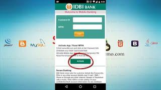 MPİN ve Etkinleştirmek İDBİ Mobil Bankacılık Uygulaması Oluşturmak için nasıl