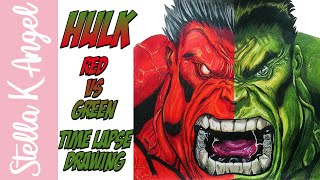 Ed McGuinness Red Vs Green Hulk - Time Lapse Drawing
