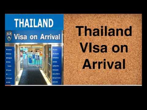 Thailand Visa on Arrival 2017