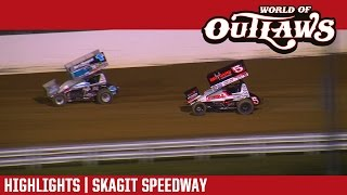 World of Outlaws Craftsman Sprint Cars Skagit Speedway Highlights