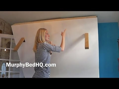 Murphy Bed - Homemade Murphy Bed PLAN (with storage)