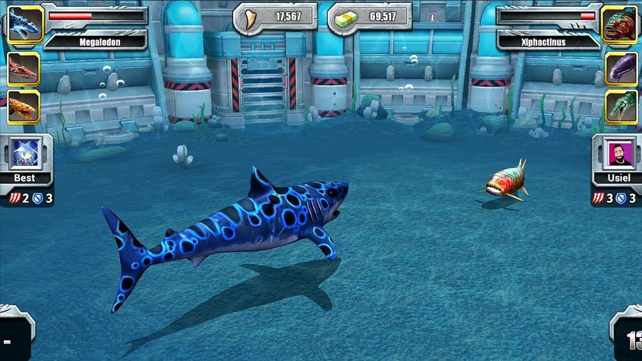 MEGALODON VS XIPHACTINUS ||| Jurassic Park Builder Aquatic ...