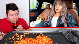 Reacting to Veronica Wang's video about me... MUKBANG