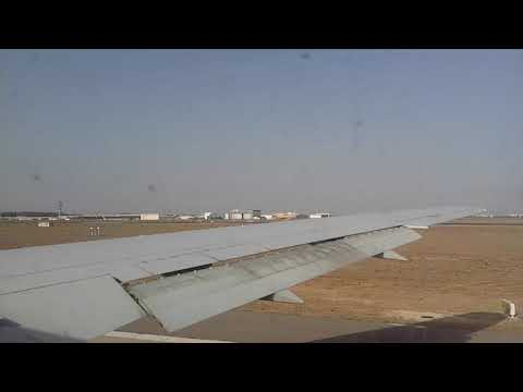 Take-off from Casablanca Mohammed V airport onboard a Titan Airways B767-300