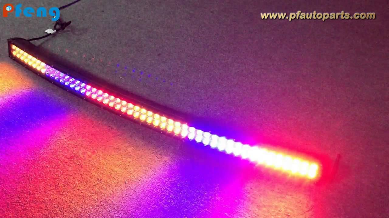 50 Inch Curved Multi Color Change Light Bar Youtube