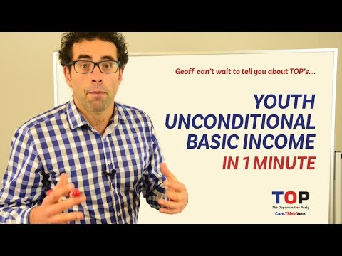 Policy in a minute - Youth Unconditional Basic Income