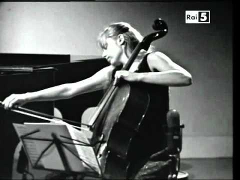 Jacqueline Du Pré and Daniel Barenboim play Brahms's Cello Sonata op.99 - 1st  Movt.