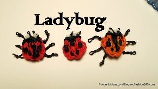 Rainbow Loom ladybug emoji/Emoticon charm - How to