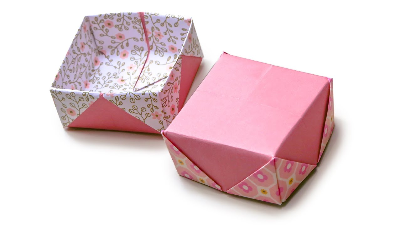 origami masu box lid variation v2 ��� tutorial ��� diy ���