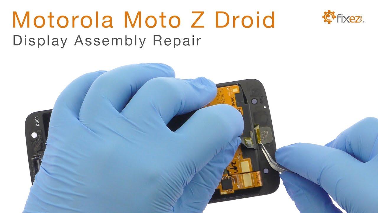 Motorola Moto Z Droid Display Assembly Repair Guide - Fixez com