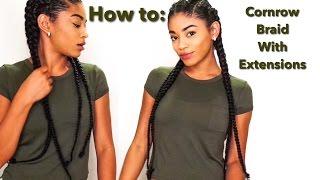 vuclip How to: Cornrow Braid with Extensions | jasmeannnn
