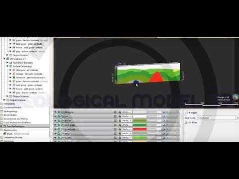 Leapfrog Geo - Modelo geológico 3D en base a sección (part 2/2)
