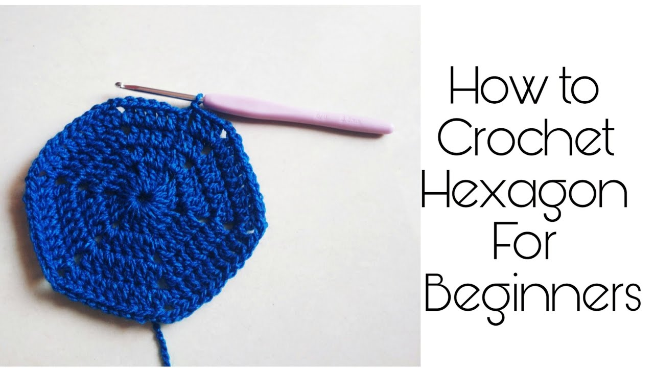 How to Crochet a Hexagon for Beginners   With Eng subtitle ...