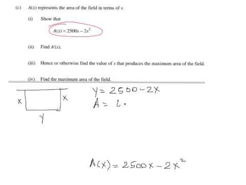 Optimization Calculus Word Problem