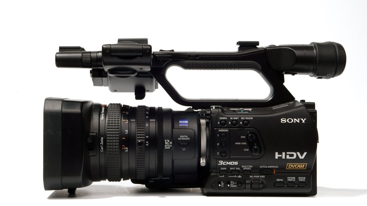 Sony HVR-Z7E professional HD video camera - YouTube