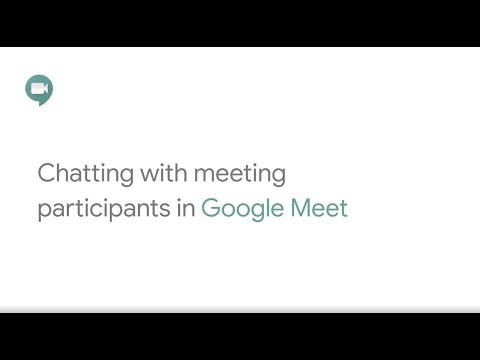 Chat in Google Meet