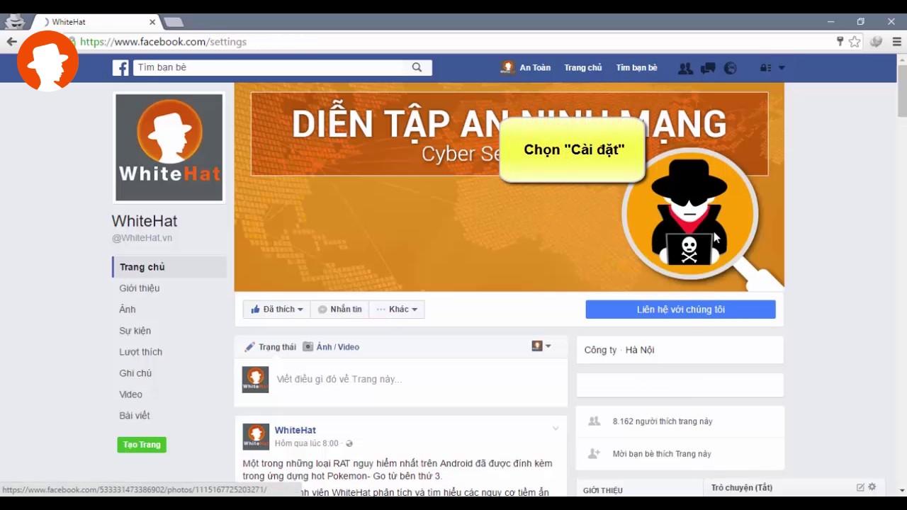 đăng nhập facebook trên web