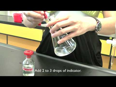 MI Chemistry: Determining The End Point Of A Titration Using A Burette