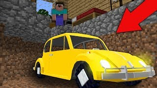 Minecraft NOOB vs PRO : ALL THIS TIME CAR WAS UNDER NOOB HOUSE! Challenge 100% trolling