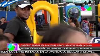 Gobierno sandinista inaugura juegos infantiles para la niñez del municipio de Rio Blanco, Matagalpa