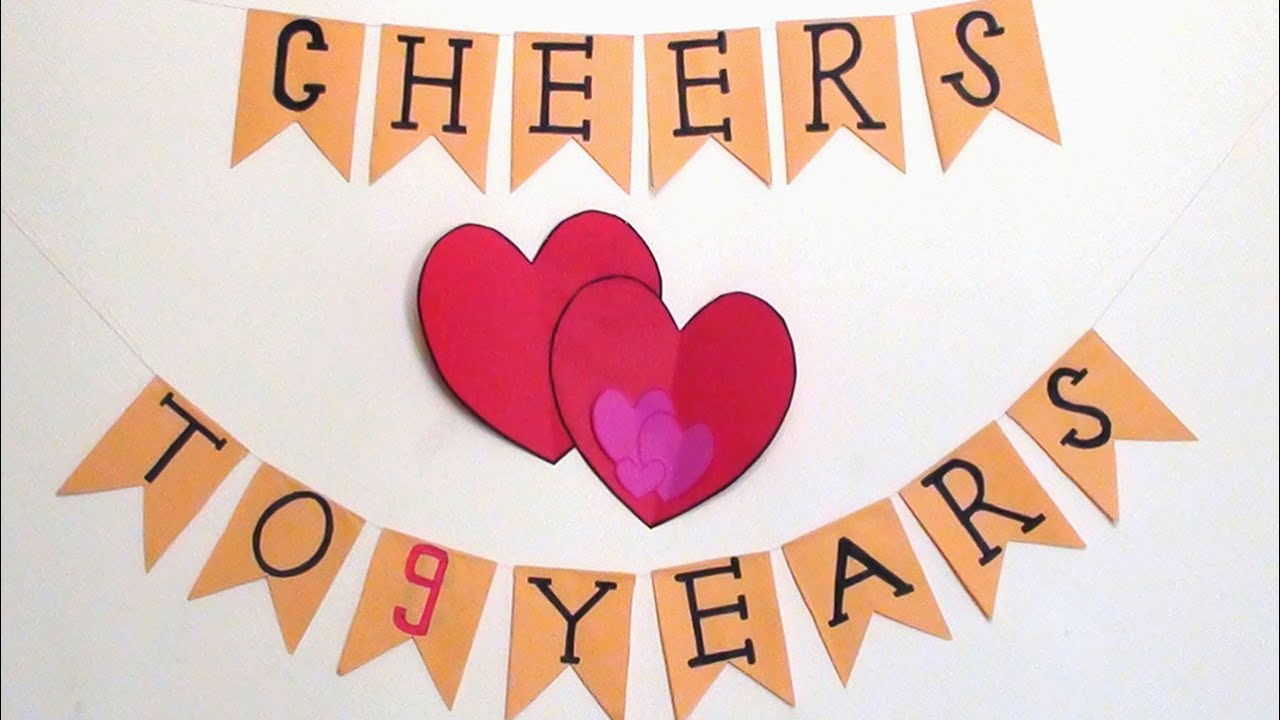 Easy Wedding Anniversary Decoration Diy Simple Paper Crafts Youtube