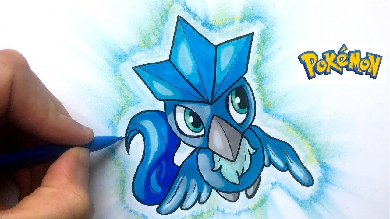 Draw Articuno Kawaii Pokémon
