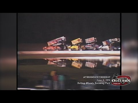 #ThrowbackThursday: World of Outlaws Sprint Cars Rolling Wheels Raceway Park June 2nd, 1991