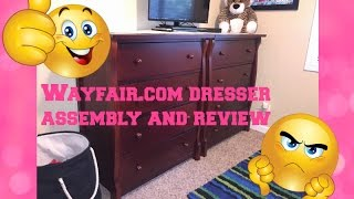 WAYFAIR DRESSER UNBOXING. QUICK ASSEMBLY AND REVIEW