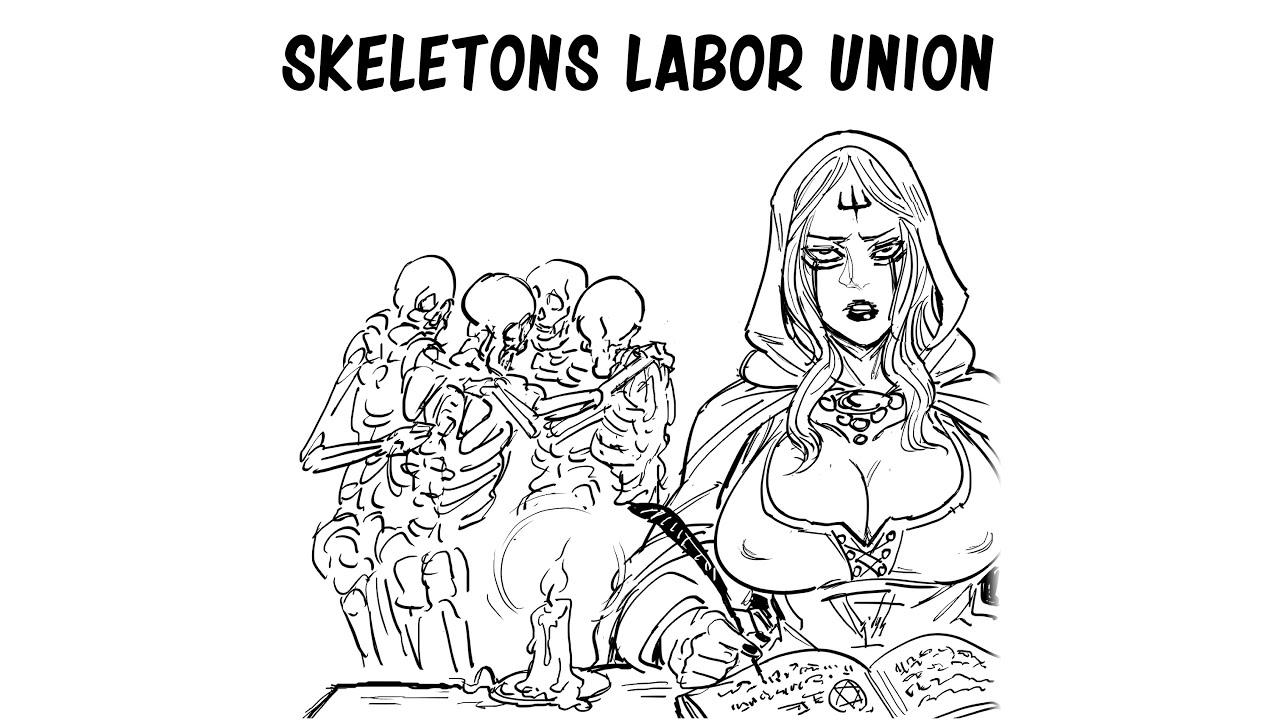 Download Necromancer Life: Skeletons Labor Union| Baalbuddy comic