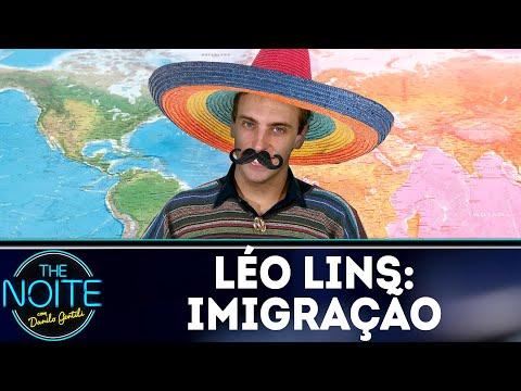 Léo Lins: O que os americanos pensam sobre imigração? | The Noite (28/08/18)