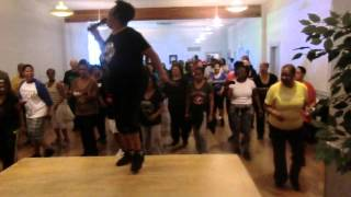 B.E Bop Line Dance taught by Jackie Bowie -(DanceforFun Fourlife)