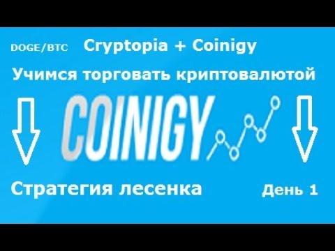 Cryptopia + Coinigy - учимся торговать(день 1) (вид.1)