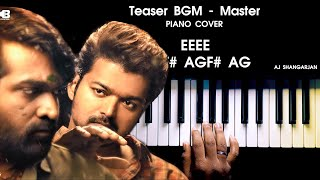 Download lagu Master - Mass Teaser BGM Piano Cover with NOTES | AJ Shangarjan | AJS