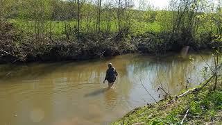 Ловля на спиннинг в начале мая на речке
