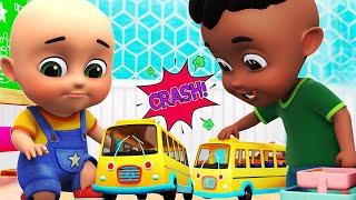The Wheels On The Bus | bus in garage | cartoon for kids | Jugnu kids Nursery Rhymes and Baby Songs