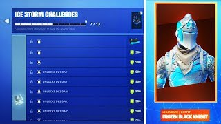 "New Fortnite ""ICE STORM CHALLENGES"" + FREE REWARDS ( Free ICE STORM CHALLENGE Rewards)"