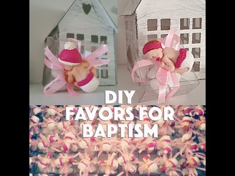 Diy baptism favors / Diy bomboniere battesimo