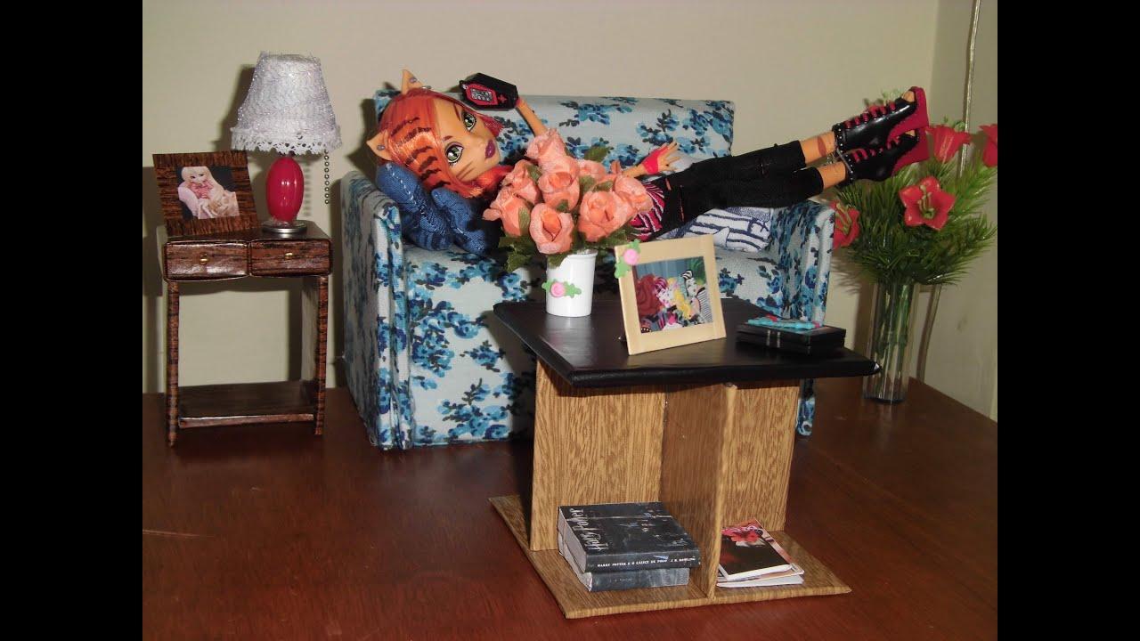 Como fazer uma mesa de centro para boneca Monster High Pullip Barbie  #6B3223 3000x2250