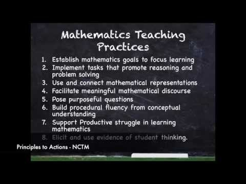 NCTM Principles to Actions: Establish Mathematics Goals to Focus Learning
