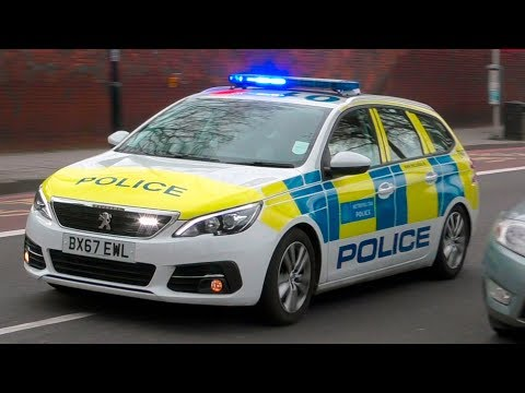 NEW | London Metropolitan Police PEUGEOT 308 SW responding with lights and sirens