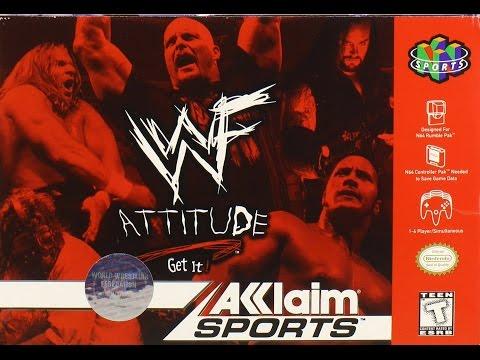 WWF: Attitude N64 Playthrough - EUROPEAN Title With STEVE AUSTIN