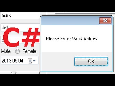 Validating numeric input in c#
