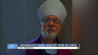 Archbishops' names removed from buildings
