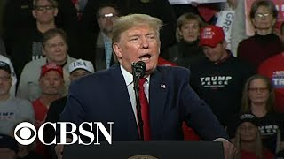 President Trump rallies supporters in Ohio