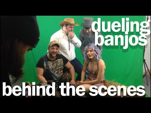 The Beef Seeds - Dueling Banjos - Burning Chariot Photo Shoot (BEHIND THE SCENES)