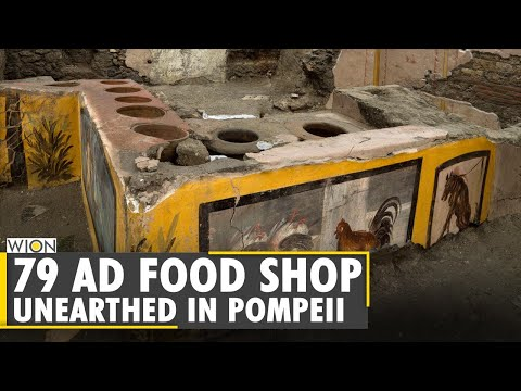Archaeologists unearth frescoed food shop in the ancient city of Pompeii  | World News | WION