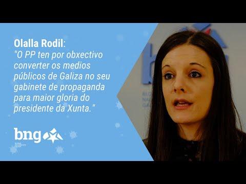 Rolda de prensa de Olalla Rodil sobre a manipulación da CRTVG por parte do PP e os 100 venres negros
