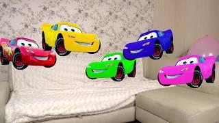 Yatak Şarkı Atlama beş Küçük Şimşek Mcqueen cars3 Mcqueen ile çocuklar için Renkleri Öğrenmek /