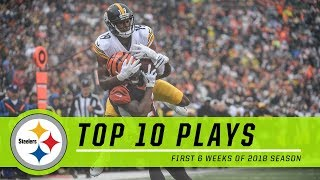 Best Plays from First Six Steelers Games | Top 10