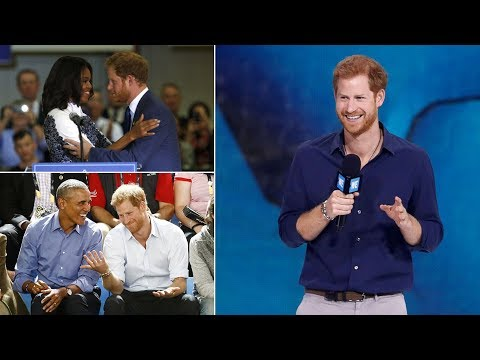 Returning the favour! Harry will speak at Barack and Michelle Obama's summit